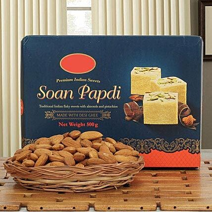 Soan N Almond Hamper: Sweets & Dry Fruits for Diwali