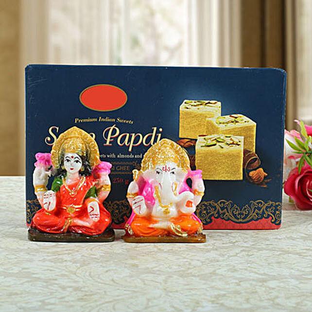 Soan Papdi with Lashmi Ganesha: Spiritual Gifts