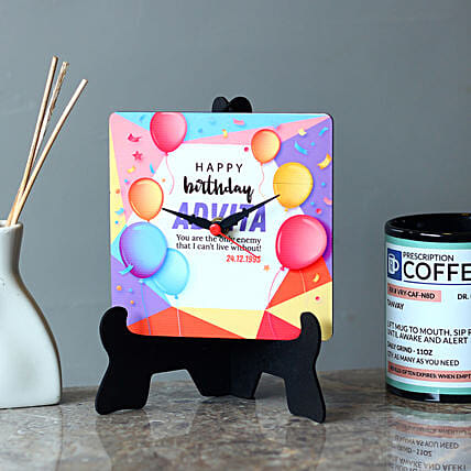 Special Personalised Birthday MDF Table Clock: