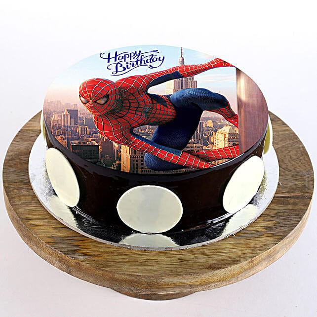 Spiderman Chocolate Photo Cake: Superhero Cakes