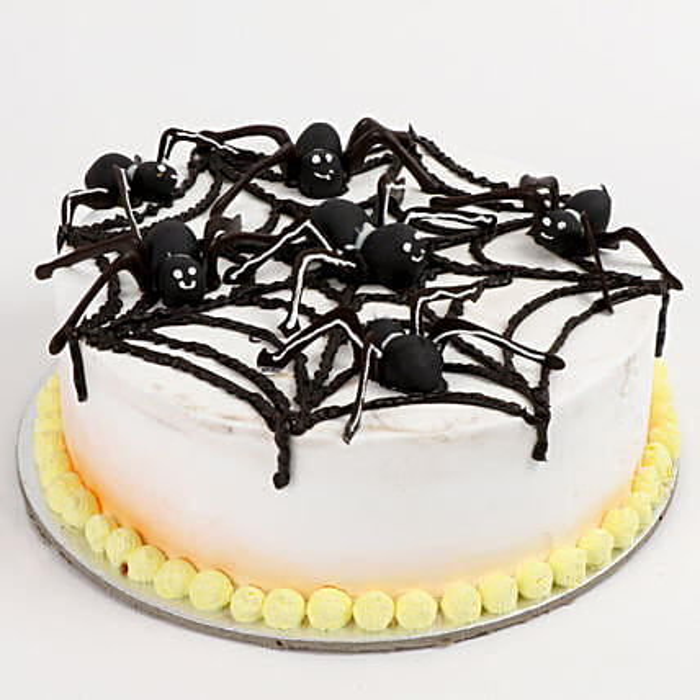 Spooky Spider Cake: Strawberry Cakes