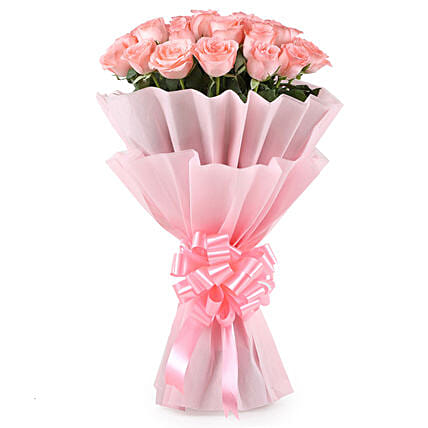 Stylish Pink Roses Bouquet: Pink Flowers
