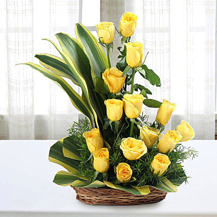 Sunshine Yellow Roses Bouquet: Fresh Flower Arrangement