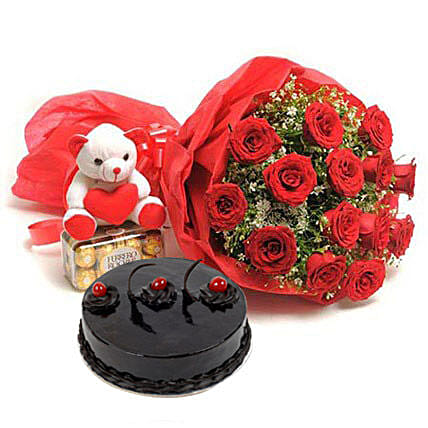 Sweet Love: Send Cake with Teddy