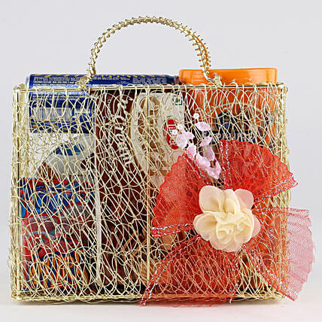 Sweet Snack Hamper In Mesh Bag: Combo Gifts