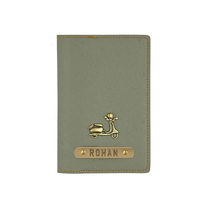 Textured Passport Cover Ash Grey: Personalised Accessories