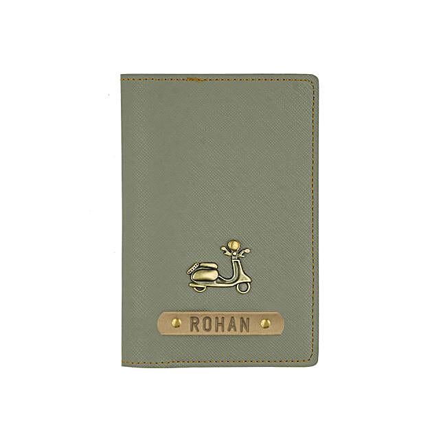 Textured Passport Cover Ash Grey: