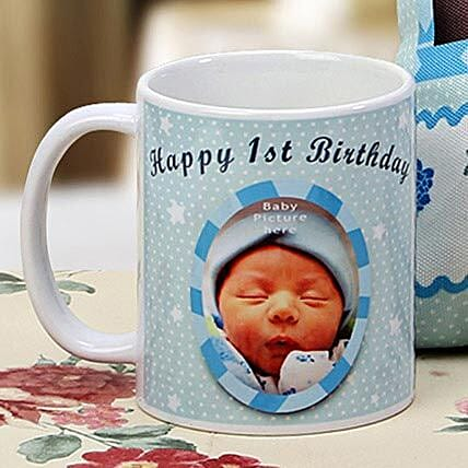 The First Milestone Personalized Mug: Gifts for 1St Birthday