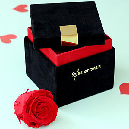 Timeless- Forever Red Rose in Velvet Box: Forever Roses
