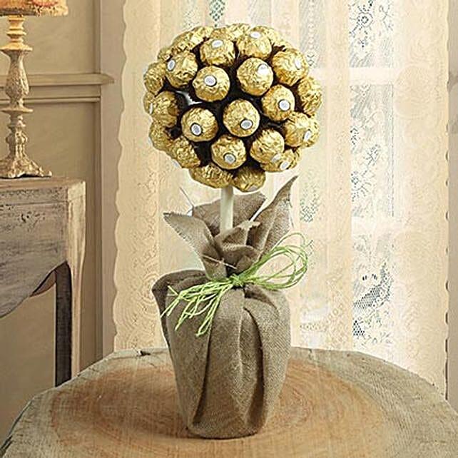 Ferrero Rocher Chocolate Tree Arrangement: Send Chocolate Bouquet