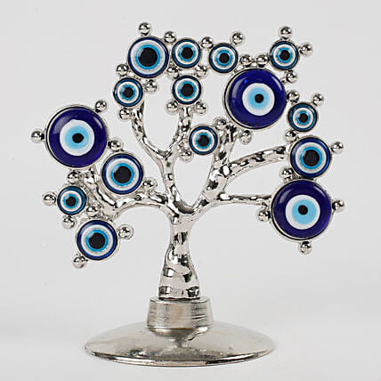 Tree Shaped Evil Eye Showpiece: Home Decor for Diwali