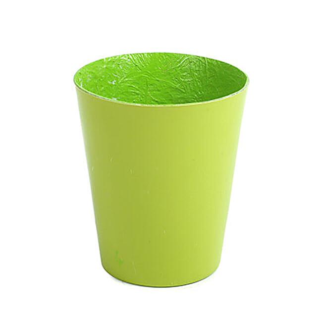 Unbreakable Green Fiber Vase: Pots for Plants