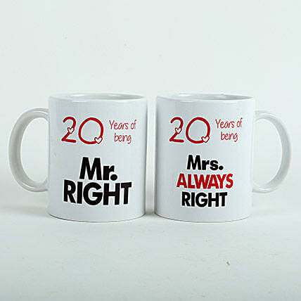 Always Right Couple Mugs White: Gifts Delivery In Pragati Nagar