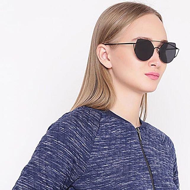 Black Round Women Sunglasses: Sunglasses
