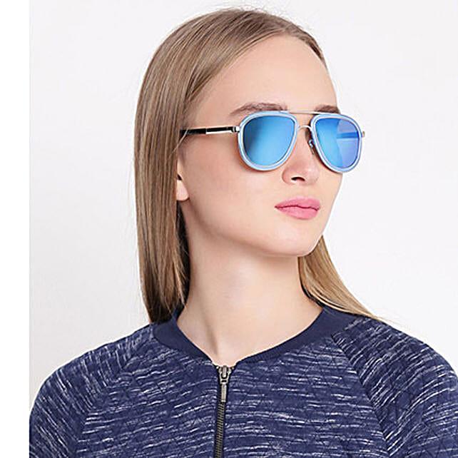 Blue Aviator Unisex Sunglasses: Sunglasses Gifts