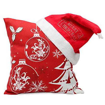 Christmas Cushion and Cap: Send Gifts to Pauri Garhwal