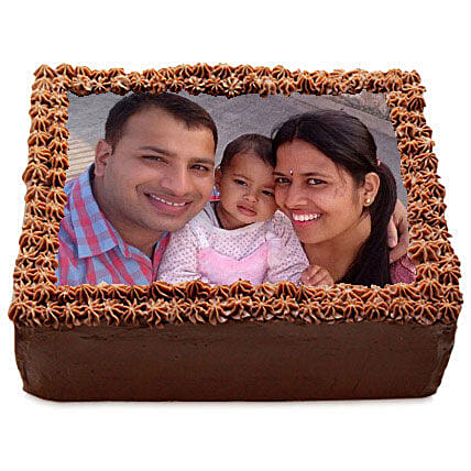 Delicious Chocolate Photo Cake: Photo Cakes for Birthday