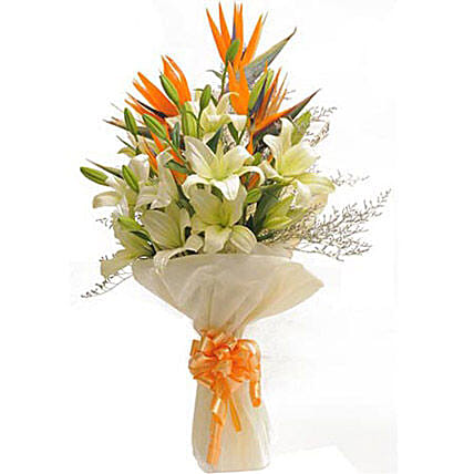 Exotic Bouquet: Valentines Day Special Lilies