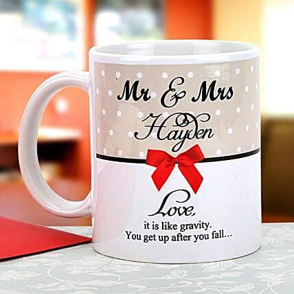 Gravity of love: Personalised Mugs for Him