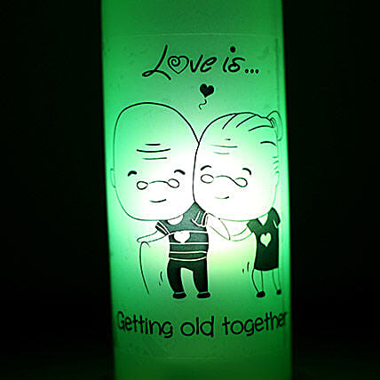Growing Old Together Lamp: Bottle Lamps