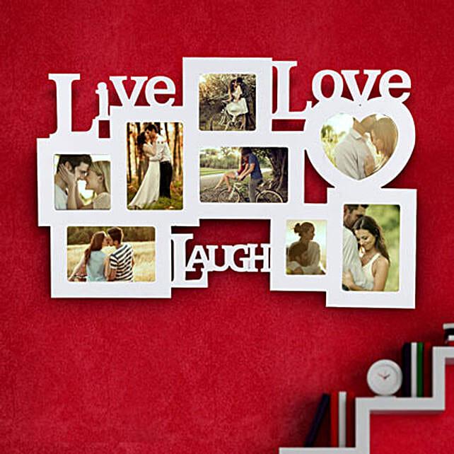 Live Laugh Love Frame Valentine: Send Photo Frames