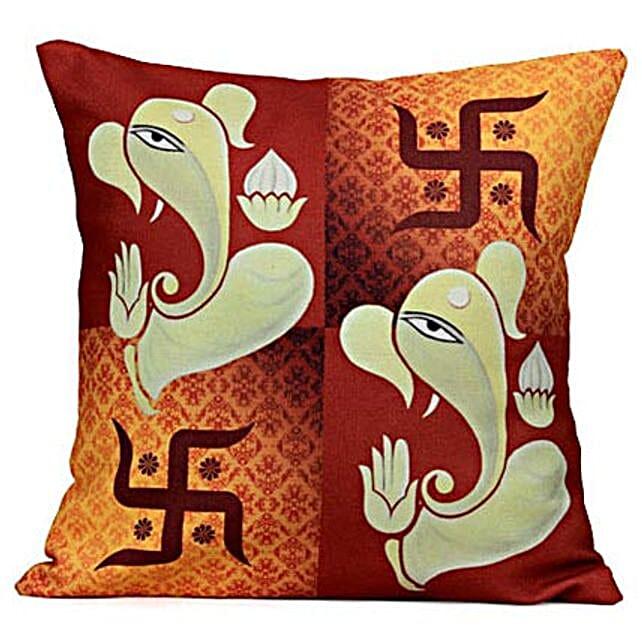Lord Ganesha Cushion: Spiritual Gifts