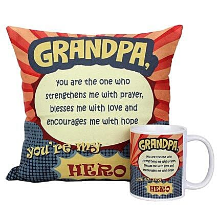 Mug and Cushion For Grandpa: Gifts for Grandparents