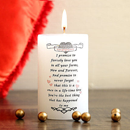 My Valentine Promise Candle: Send Candles
