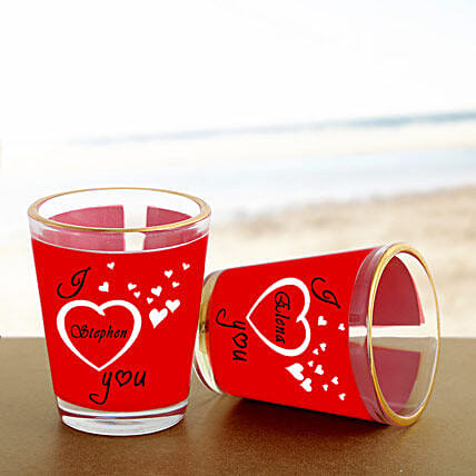Personalized Couple Shot Glass: Gifts to Bijapur