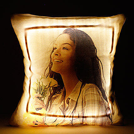 Personalized LED Cushion Yellow: Personalised Gifts Bestsellers Birthday
