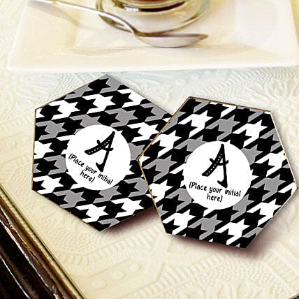 Personalized Letter Coasters: Gift Delivery in Unnao