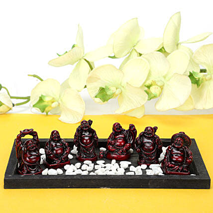 Platter Full Buddhas: Send Handicraft Gifts for Her