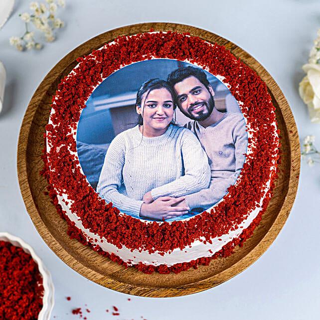 Red Velvet Photo Cake: Red Velvet Cakes Delivery