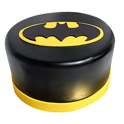 Shining Batman Cream Cake: Gifts to Machilipatnam