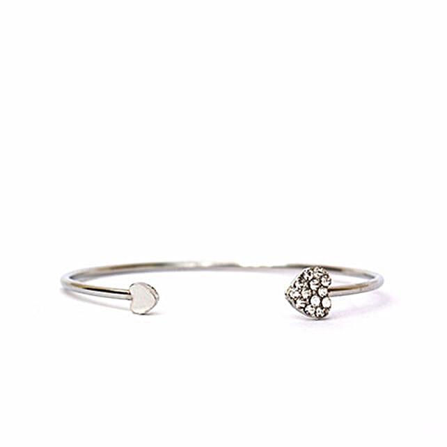 Silver Heart Bracelet: Send Bangles and Bracelets