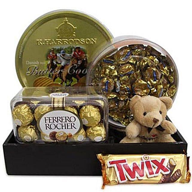 Twix Choco Hamper: Send Soft toys to Thane