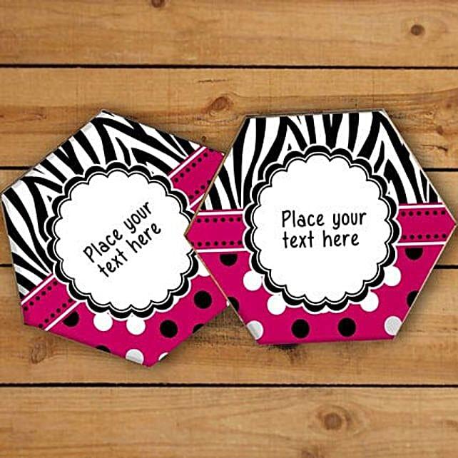Vibrant Personalized Coasters: Coasters