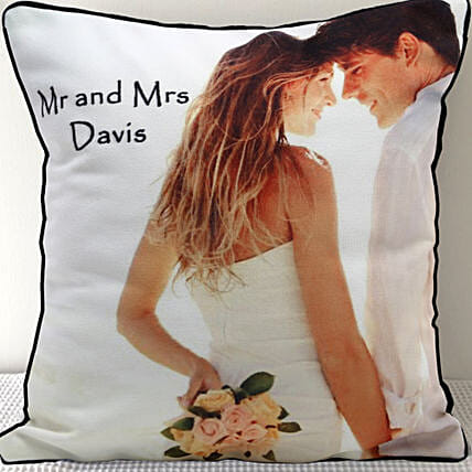 Mr n Mrs Personalized Cushion: Personalised Cushions - Anniversary