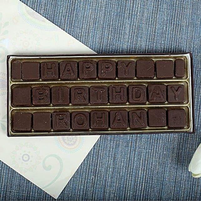 Personalized Birthday Chocolates: Personalised Chocolates Noida