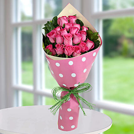 Pink Roses Bunch Of Happiness: