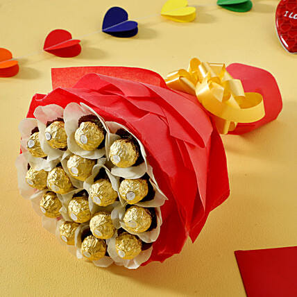 Rocher Choco Bouquet: Holi Gifts