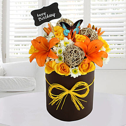 Sunny Floral Arrangement: Birthday Premium Gifts