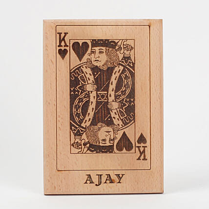King of Hearts Wooden Plaque: