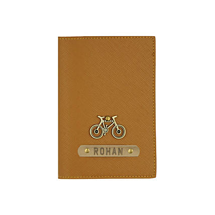 Textured Passport Cover Brown: Personalised Gifts for Friend