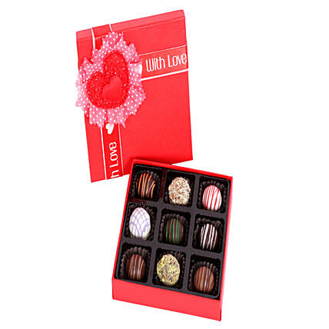 9 Assorted Chocolate Truffles: Handmade Chocolates