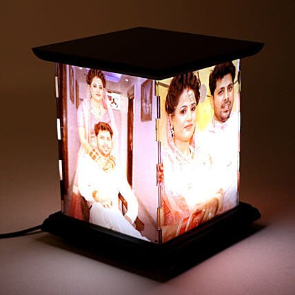 Wooden Personalized LED Lamp: Send Gifts for Men