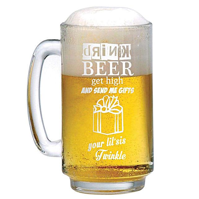 Personalised Beer Mug 1305: Personalised Beer Glasses