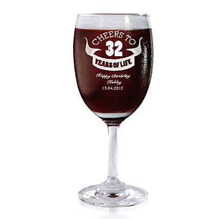 Personalised Set Of 2 Wine Glasses 2167: Bar Accessories