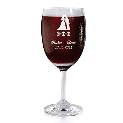 Personalised Set Of 2 Wine Glasses 2174: Bar Accessories