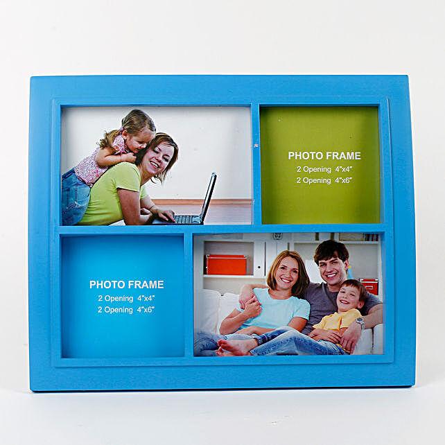 Personalised Classic Blue Photo Frame: Photo Frames